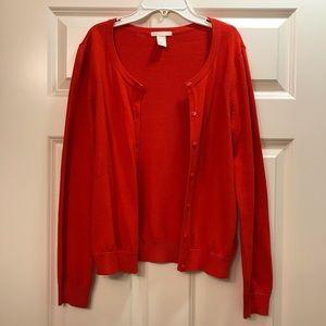 H&M Classic Red Cardigan